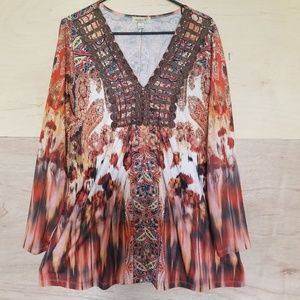 Anthropologie One World Blouse Size XL